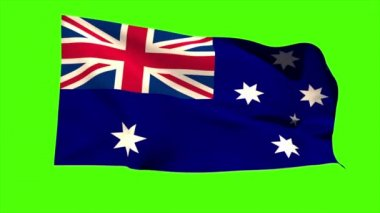 Australia national flag blowing — Stock Video