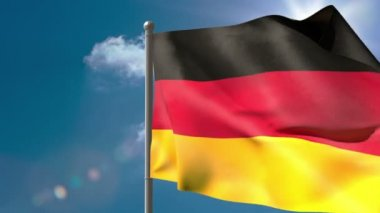 Germany national flag waving — Stock Video