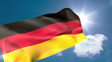 Germany national flag blowing — Stock Video