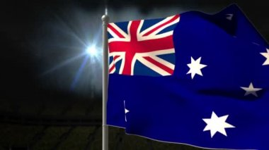 Australia national flag waving — Stock Video