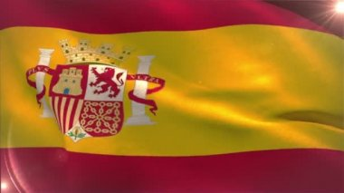 Spain national flag waving — Stock Video