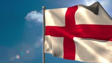 England national flag waving — Stock Video