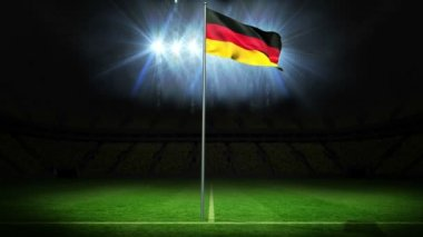 Germany national flag waving on flagpole — Stock Video