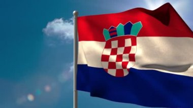 Croatia national flag waving — Vídeo de stock