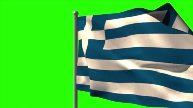 Greece national flag waving — Stock Video