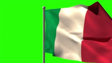 Italy national flag waving — Stock Video