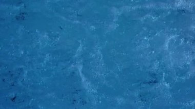 Bubbles in blue hot tub — Stock Video