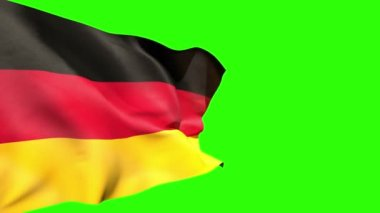 Large germany national flag blowing — Stock Video