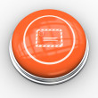 Envelope graphic on orange button — Stock Photo #49983135