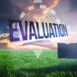 Businesswomans hand presenting the word evaluation — Stock Photo #49984109