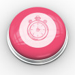 Stopwatch graphic on pink button — Stock Photo #49985143