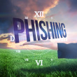 Businesswomans hand presenting the word phishing — Stock Photo #49988417