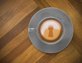 Composite image of keyhole — Stockfoto