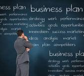 思考のビジネスマン — ストック写真