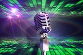 Retro chrome microphone — Stock Photo