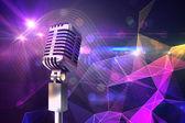 Mikrofon retro chrom — Zdjęcie stockowe