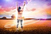 Cheering football fan — Стоковое фото