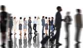 Many business people standing in a line — Stock Photo