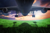 Airplane taking off — Stock Photo