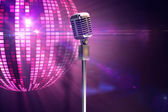 Retro microphone on stand — Stock Photo