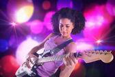 Meisje spelen gitaar — Stockfoto