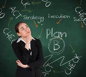 Businesswoman thinking — Stock Photo