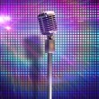 Retro microphone on stand — Stock Photo #49990147