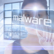 Businesswoman pointing to word malware — Stock Photo #49990791