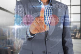 Businessman touching the words product promotion — Stock Photo