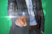 Businessman touching the word skill on interface — Foto de Stock