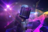 хром ретро микрофон — Стоковое фото