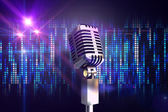 Retro chrome microphone — Stock Photo