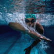 Fit swimmer training by himself — Stock Photo #50042441
