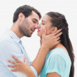 Attractive young couple about to kiss — Stock Photo #50043651