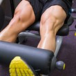 Mid section of muscular man doing a leg workout — Stock Photo #50044257