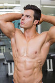 Muscular man looking away — Foto Stock