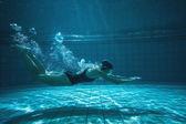 Formación atlética nadador en su propia — Foto de Stock