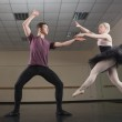 Ballet partners dancing gracefully together — Stock Photo #50050739