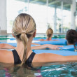 Fitness class doing aqua aerobics — Stock Photo #50052437
