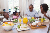 Happy family having lunch together — Stock Photo