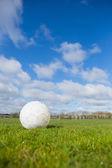 Football on pitch under blue sky — Stock Photo