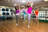 Zumba class dancing in studio — 图库照片