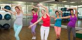 Zumba class dancing in studio — Foto de Stock
