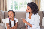 Mother scolding her daughter — Stock Photo