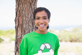 Pretty environmental activist smiling at camera — Stock Photo