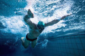 Fit swimmer training by himself — Stock Photo