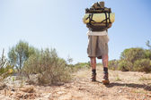 Handsome hiker walking in the countryside — Stock Photo