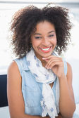 Pretty designer smiling at camera — Stock Photo