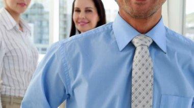 Equipo de negocios atractivo — Vídeo de Stock