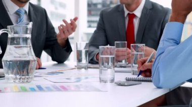 Business people working together at meeting — Stock Video